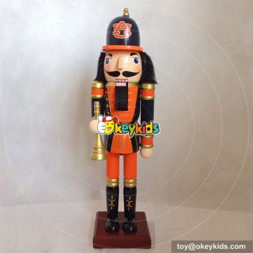 Wholesale customized wooden soldier nutcracker ornament toy as baby gift W02A082