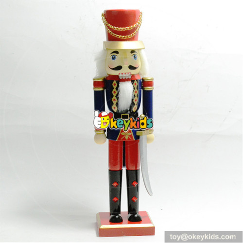 Wholesale professional fancy toddler wooden crafts nutcracker W02A194