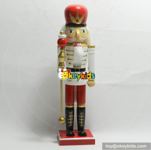 Wholesale christmas gift wooden baby nutcracker toy for decoration W02A199