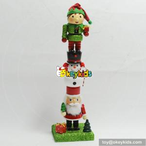 wholesale style unique wooden christmas decoration nutcracker W02A203