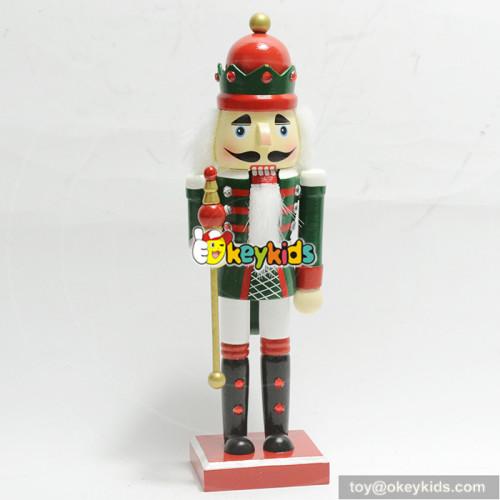 wholesale unique customized nutcrackers decoration wooden Christmas ornaments W02A204