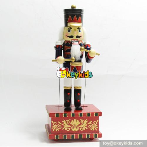 New fashion children home decoration wooden nutcracker toy soldier for sale W02A209