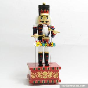 best children gift wooden santa nutcracker for  decoration W02A210