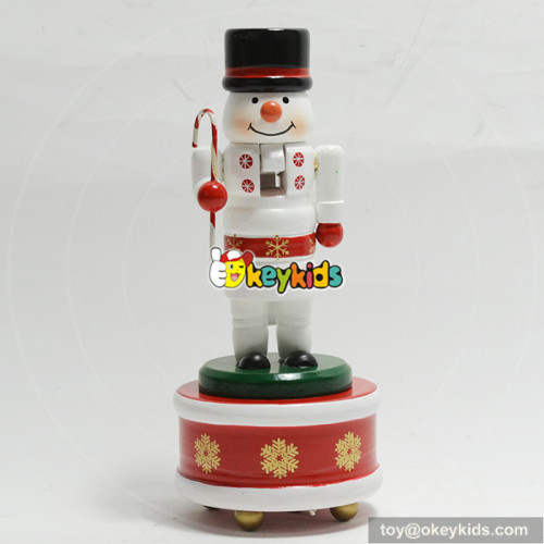 top quality silver color wooden nutcracker for dolls W02A216