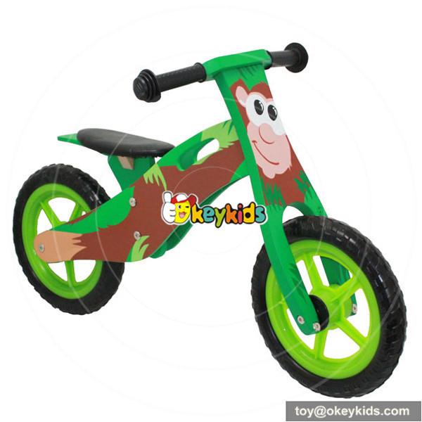 wooden blue balance bike