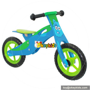 Wholesale high quality children useful wooden blue balance bike W16C062