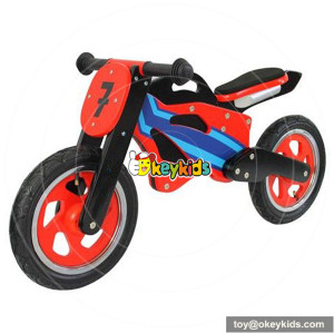 Wholesale high quality wooden red balance bike for children without pedal W16C067
