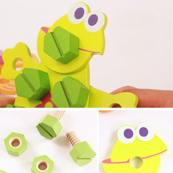 wooden nut toy