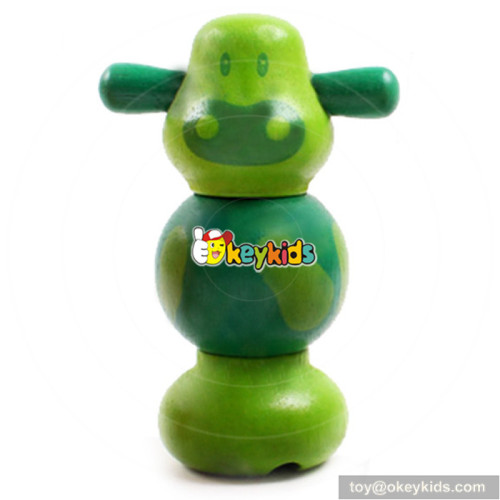 Intelligent Assembly Wooden children screw assemble toy for sale W03C008