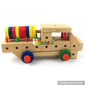wholesale colorful kids wooden assembly toys for sale W03C014