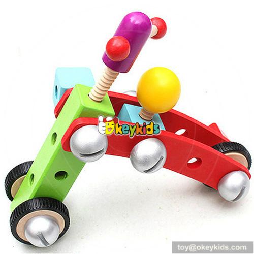 wholesale creative customize assemble kids wooden screws nut toys W03C017