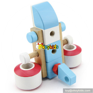 wholesale very funny kids wooden diy assemble toy as best gift W03C018
