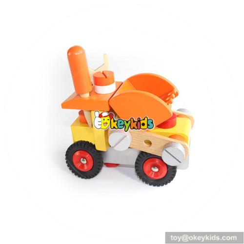 wholesale New design children wooden vehicle toy for best sale W03C023