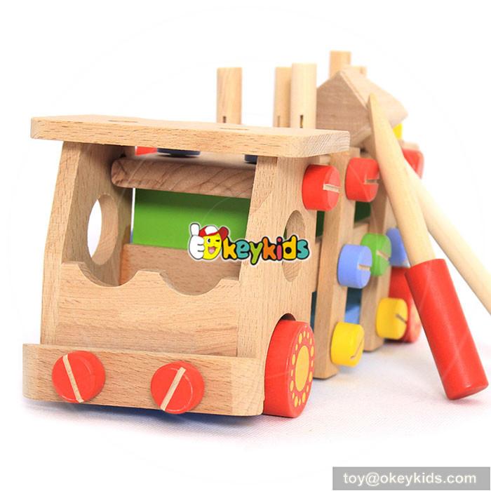 wooden screw toy