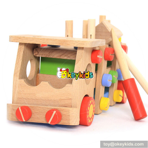 wholesale top popular children wooden screw toy for sale W03C024