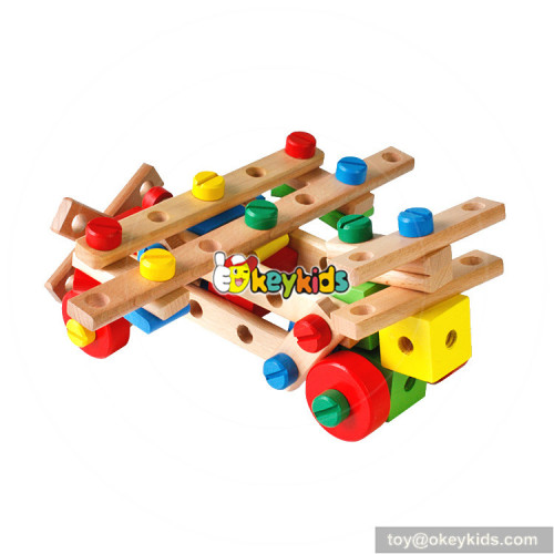 Wholesale creative style wooden diy nut combination toy for children W03C027