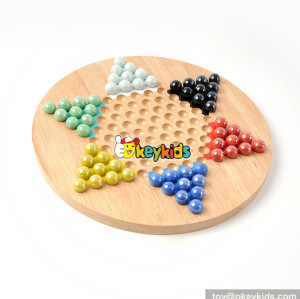 Wholesale most popular wooden chinese checkers toy for gift W11A074