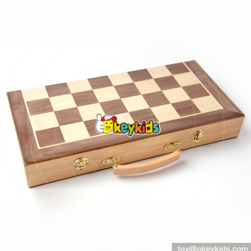 Wholesale new fashion kids wooden solitaire game for sale W11A075