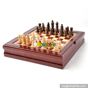 Wholesale most popular educational wooden International chess toy for children W11A077