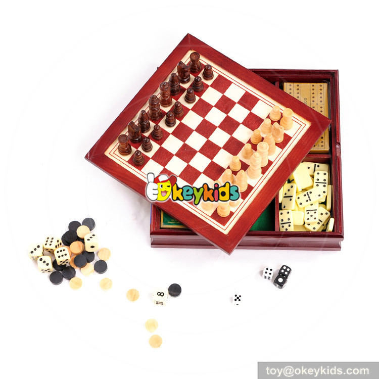 wooden chess set toy