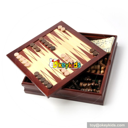 Wholesale high quality chess game toy wooden nine maori chess W11A080