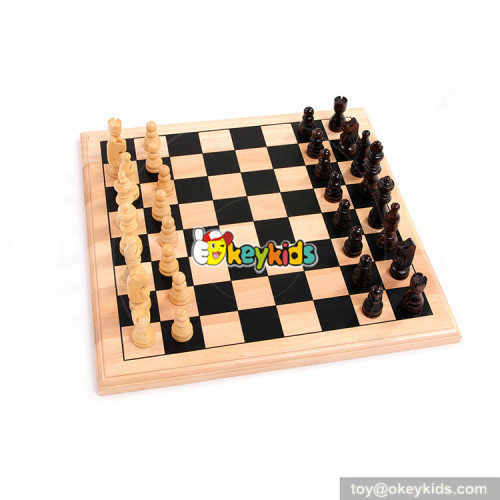 Wholesale hottest sale wooden toy international chess game W11A081