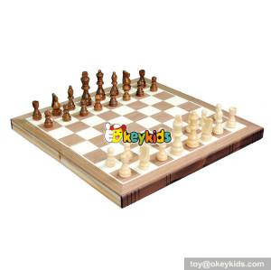 Wholesale creative customized wood international chess toy W11A086