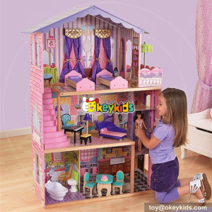 Okeykids Elegant dollhouse suite wooden 18 inch doll house for children W06A232