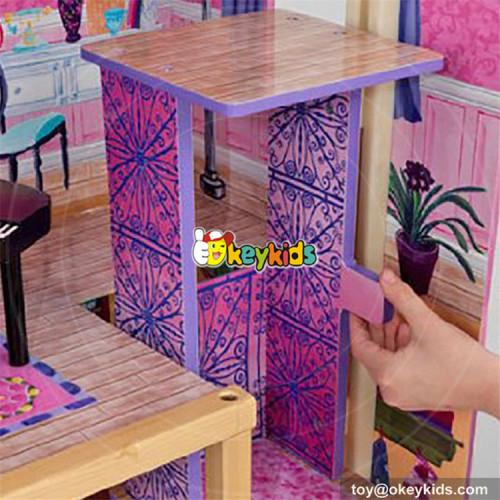 Okeykids Elegant dollhouse suite wooden 18 inch doll house for children W06A232