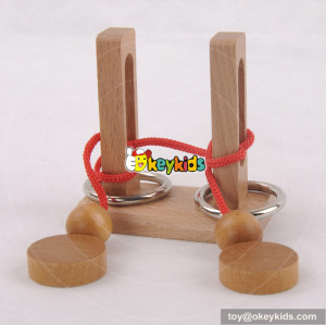 Wholesale most popular wooden kids rope puzzle to training W11C024