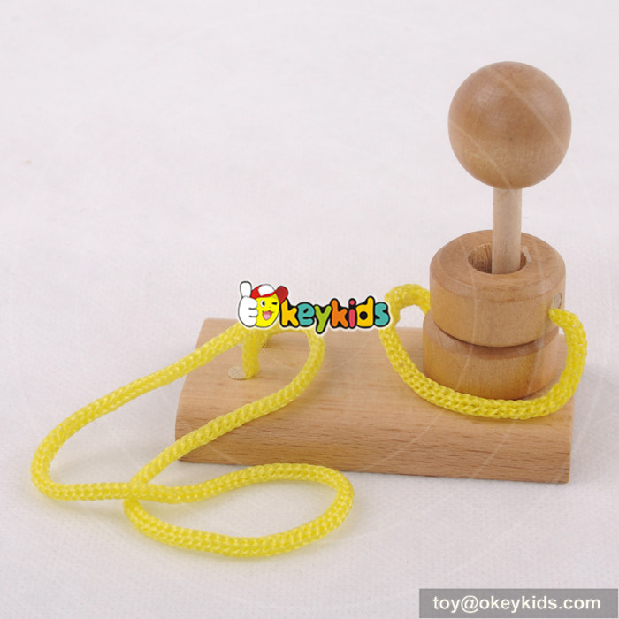 wooden rope puzzle toy