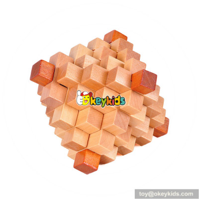 Wholesale most popular wooden children unlocked cube toy for sale W11C034
