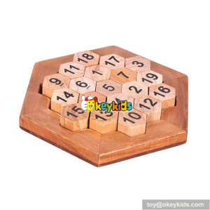 Wholesale early education wooden unlocked puzzle toy for kids W11C036