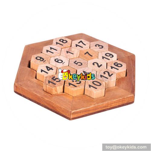 Wholesale top fashion wooden interlocking toy as IQ training W11C039