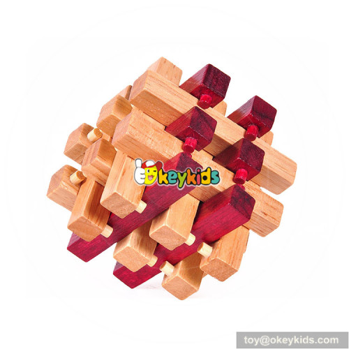 Wholesale traditional wooden cross cube play toy for young man W11C043