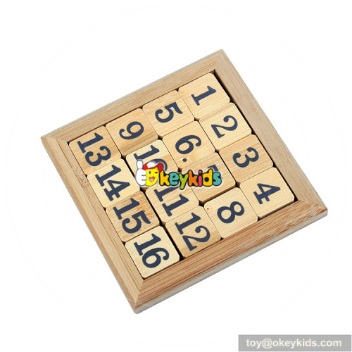 Wholesale educational game children wooden sudoku-15 toy for sale W11C044