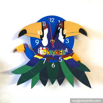 most popular wooden wall clock with decorative photo frame W14K026