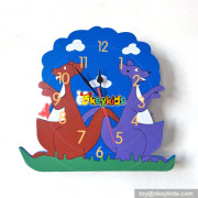 vintage customized decorative wood wall clock crafts W14K027