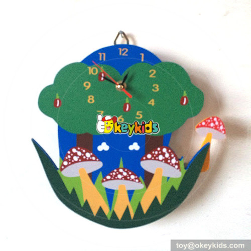 high quality children wooden forest series wall clock as decoration W14K029
