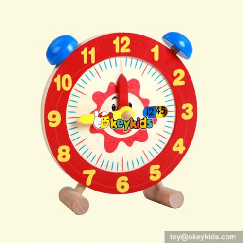 top fashion school wooden early teaching clock for sale W14K009