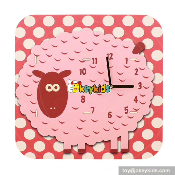 wooden toy clock