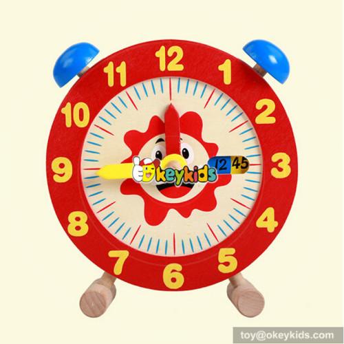 wholesale best sale early teaching wooden toy clock W14K010