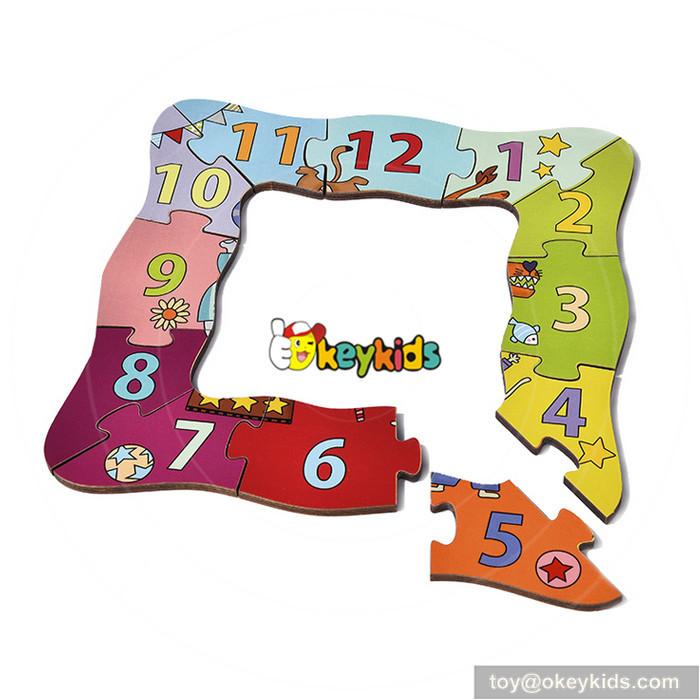 wooden clock puzzle