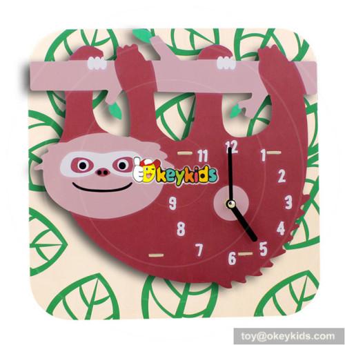 wholesale best sale children wooden clock puzzle W14K016