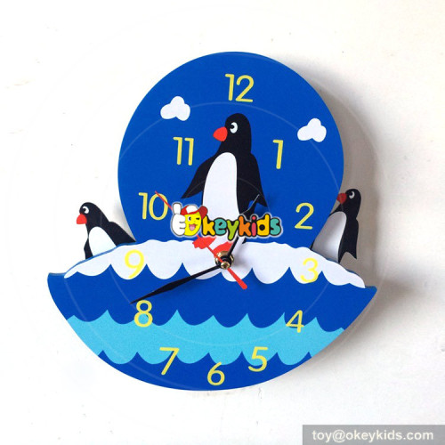 lovely wooden baby cows wall clock used in home W14K037