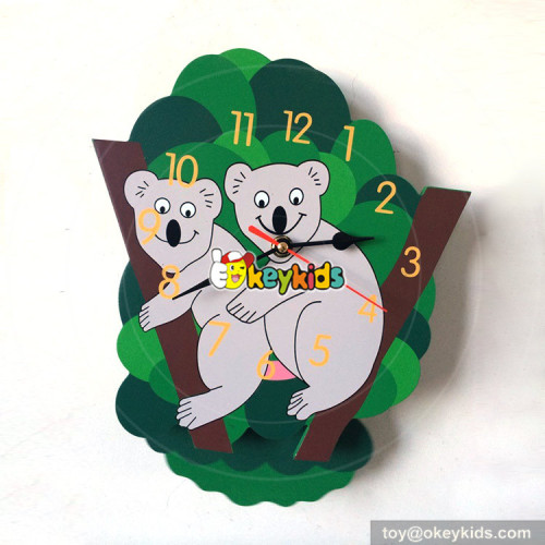 customize style wooden kids wall clock for home decoration W14K039