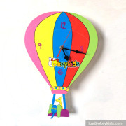 fashion popular hot air balloon wooden modern clock for sale W14K041