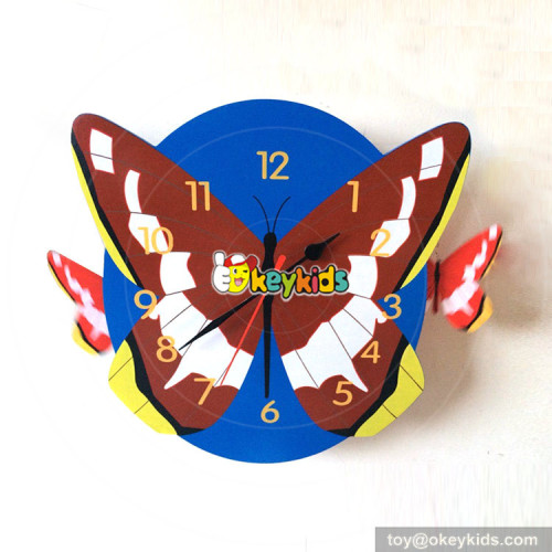 personalised creative monkey wooden boys alarm clock for sale W14K042