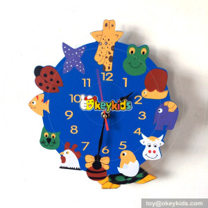 new arrival useful wooden animals wall clock for children W14K043