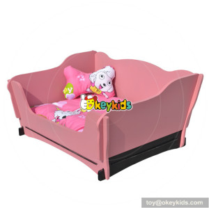 best sale lovely children pink wooden dog bed for sale W06F004A